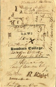Nathaniel Hawthorne's copy of the Laws of Bowdoin College