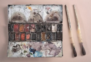 Winslow Homer's Watercolor Box and Brushes, ca. 1900–1910