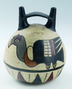 Peruvian Bridge-Spout Vessel, 100–300