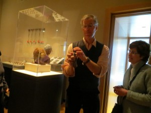 Nathaniel Wheelwright, Anne T. and Robert M. Bass Professor of Natural Sciences leads gallery talk in The Object Show