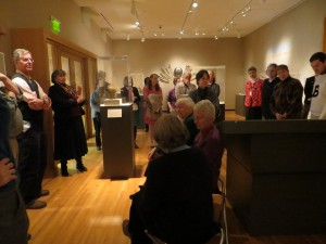 Nathaniel Wheelwright, Anne T. and Robert M. Bass Professor of Natural Sciences, Susan Wegner, Associate Professor of Art History, lead gallery talk in The Object Show