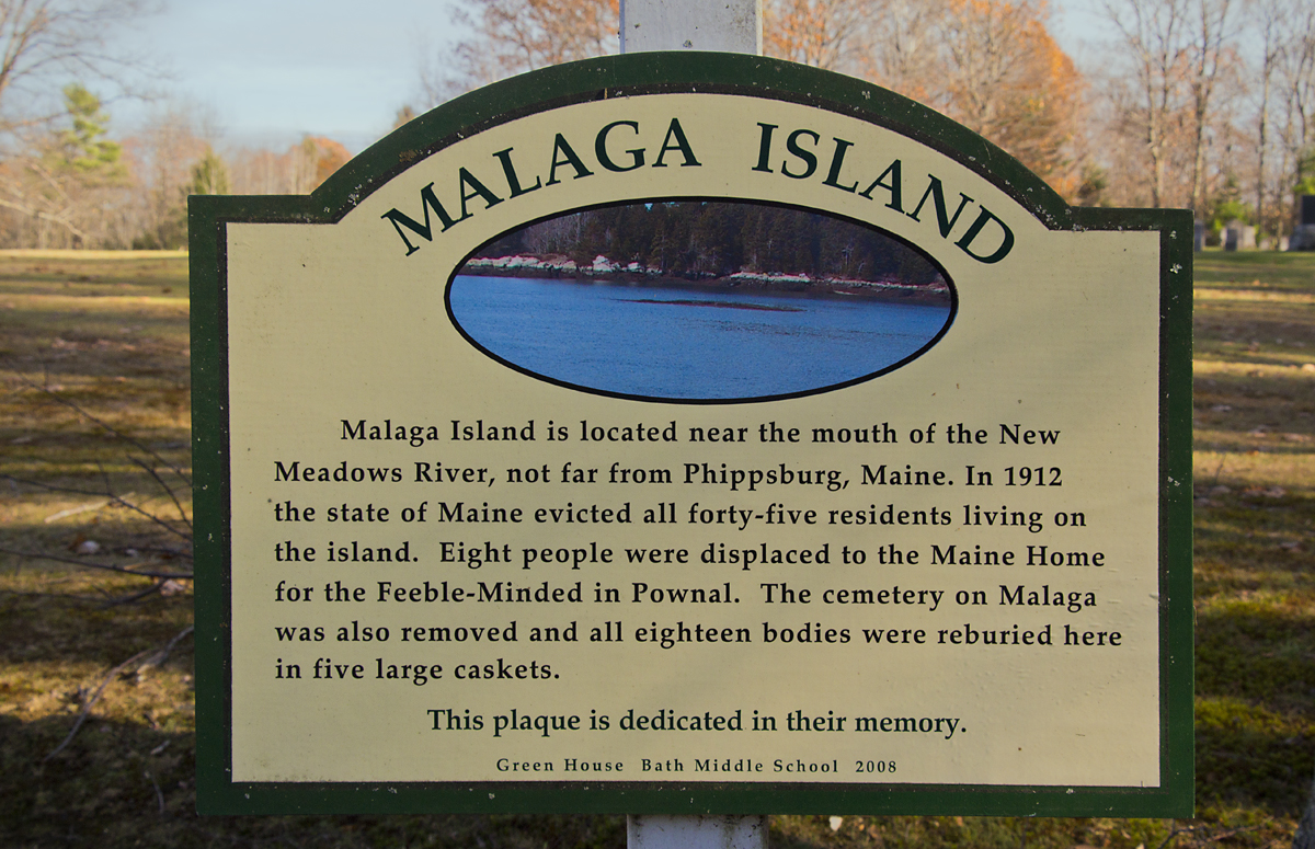 Malaga Island Maine Map