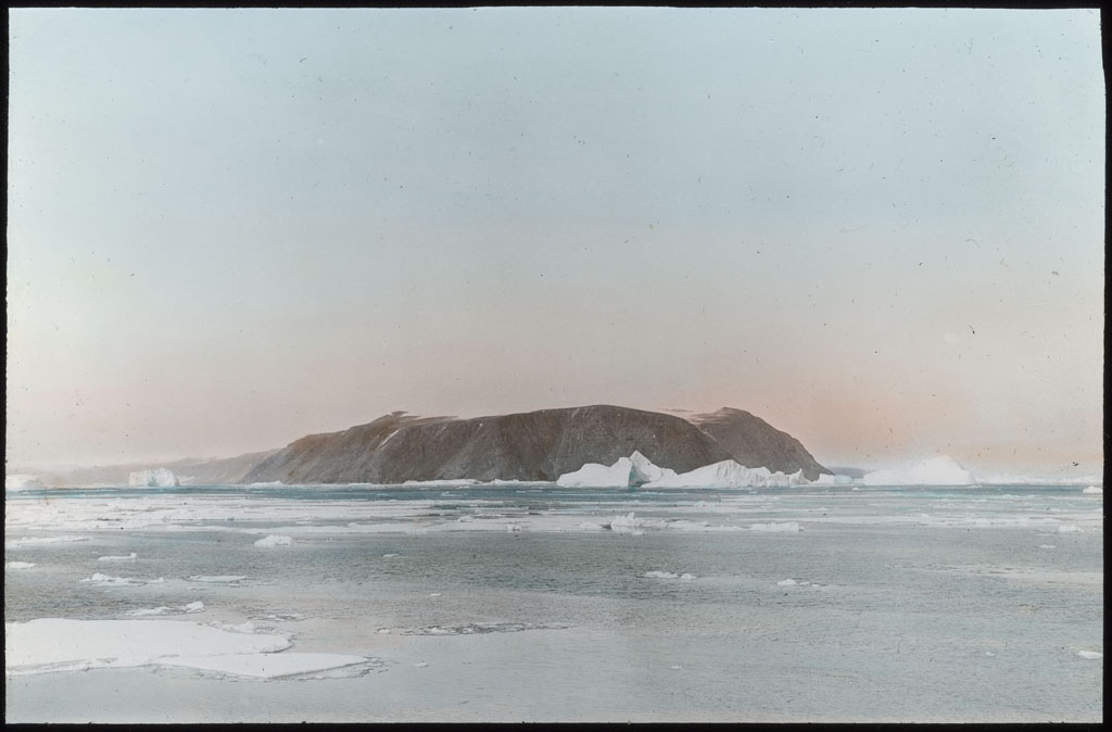 Donald Baxter MacMillan; Island off the Labrador Coast; 1913-1917; image; silver gelatin on glass; 10.16 cm x 8.26 cm x 0.64 cm (4 in. x 3 1/4 in. x 1/4 in.); TGM; North America