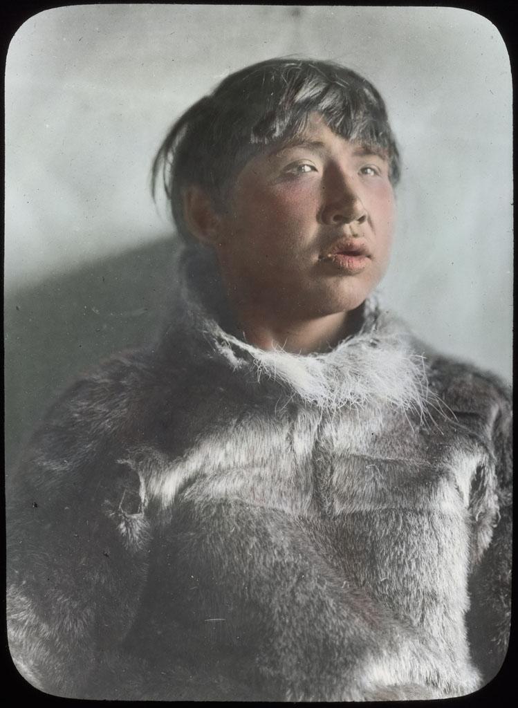Donald Baxter MacMillan; Eskimo man. Deaf and dumb; 1913-1917; image; silver gelatin on glass; 10.16 cm x 8.26 cm x 0.64 cm (4 in. x 3 1/4 in. x 1/4 in.); TGM; North America