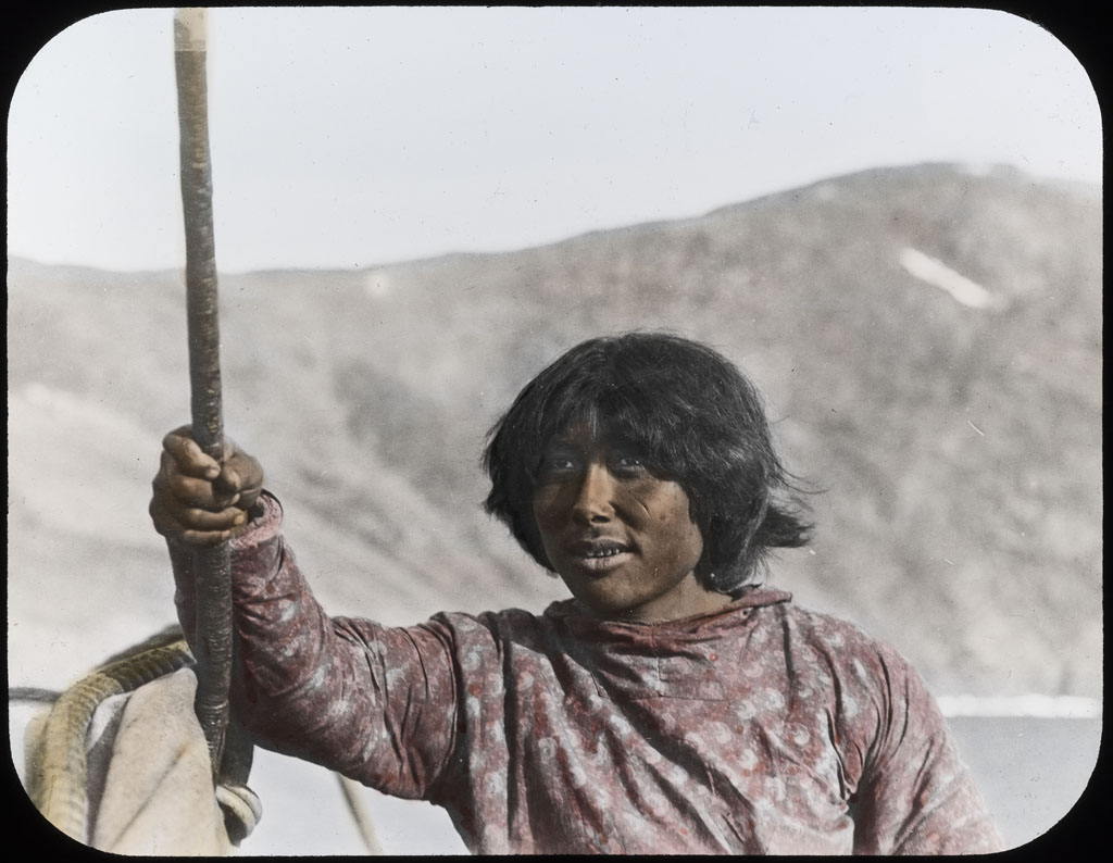 Donald Baxter MacMillan; Nu-ka-ping-wah. Native of Northwest Greenland; 1913-1917; image; silver gelatin on glass; 10.16 cm x 8.26 cm x 0.64 cm (4 in. x 3 1/4 in. x 1/4 in.); TGM; North America