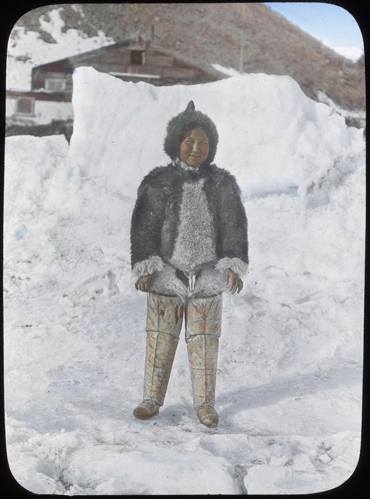 Donald Baxter MacMillan; Ah-nee-nah, North Greenland; 1913-1917; image; silver gelatin on glass; 10.16 cm x 8.26 cm x 0.64 cm (4 in. x 3 1/4 in. x 1/4 in.); TGM; North America