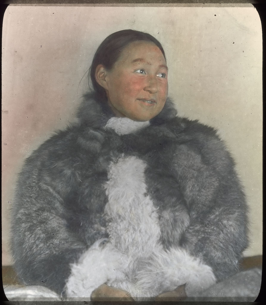 Donald Baxter MacMillan; Ah-kah-ting-wah. Northwest Greenland Woman; 1913-1917; image; silver gelatin on glass; 10.16 cm x 8.26 cm x 0.64 cm (4 in. x 3 1/4 in. x 1/4 in.); TGM; North America