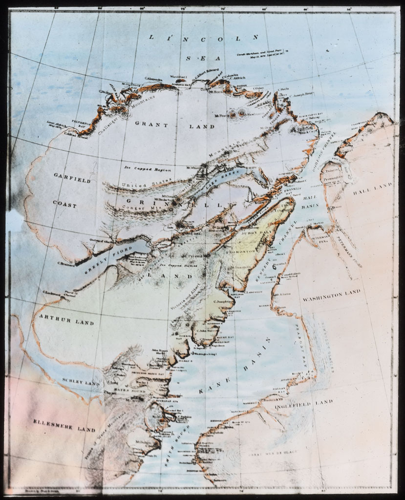 Donald Baxter MacMillan; Map. Etah to Polar Sea; 1913-1917; image; silver gelatin on glass; 10.16 cm x 8.26 cm x 0.64 cm (4 in. x 3 1/4 in. x 1/4 in.); TGM; North America