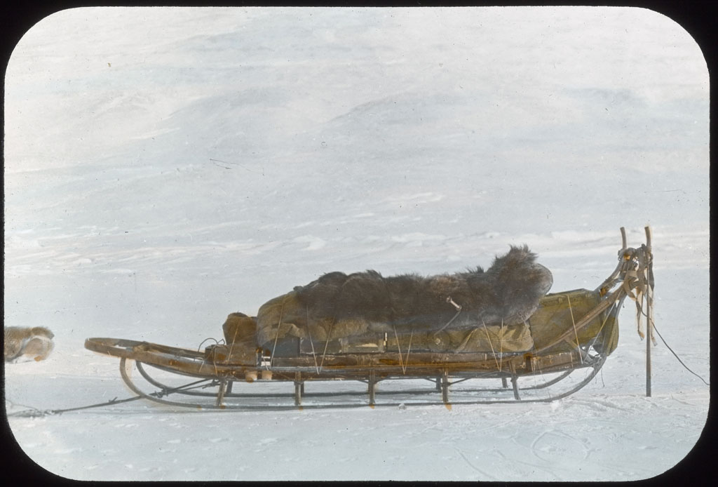 Lying on load on return of Crockerland Expedition
