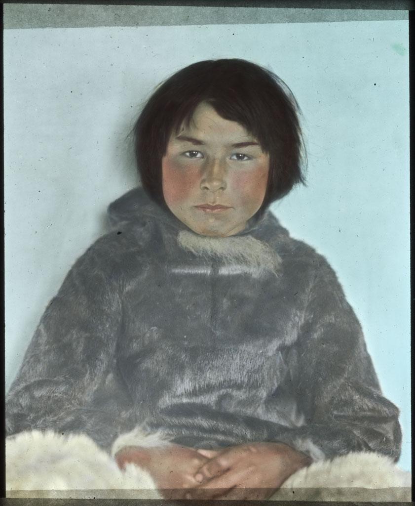 Donald Baxter MacMillan; Samik; 1913-1917; image; silver gelatin on glass; 10.16 cm x 8.26 cm x 0.64 cm (4 in. x 3 1/4 in. x 1/4 in.); TGM; North America
