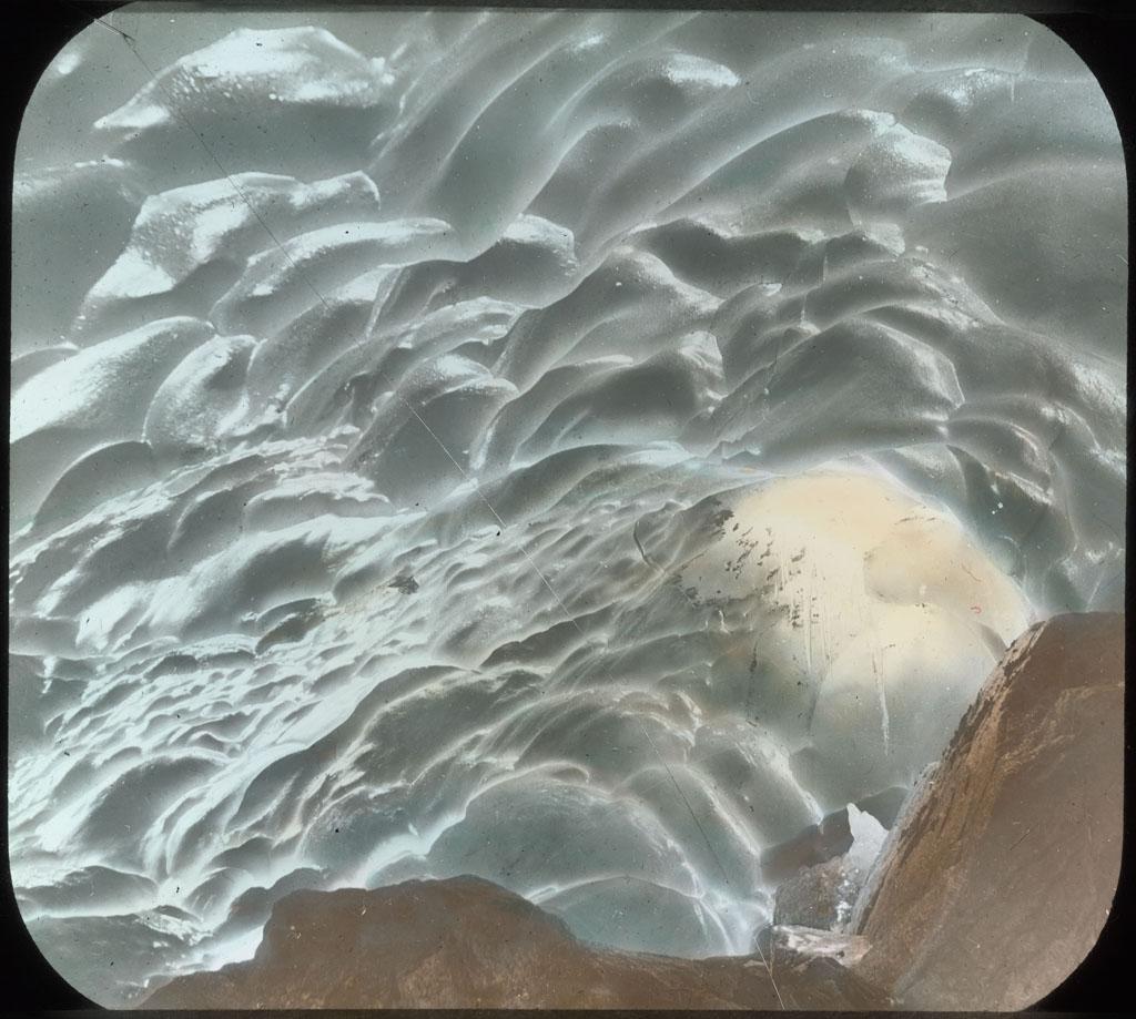 Ice cave under glacier