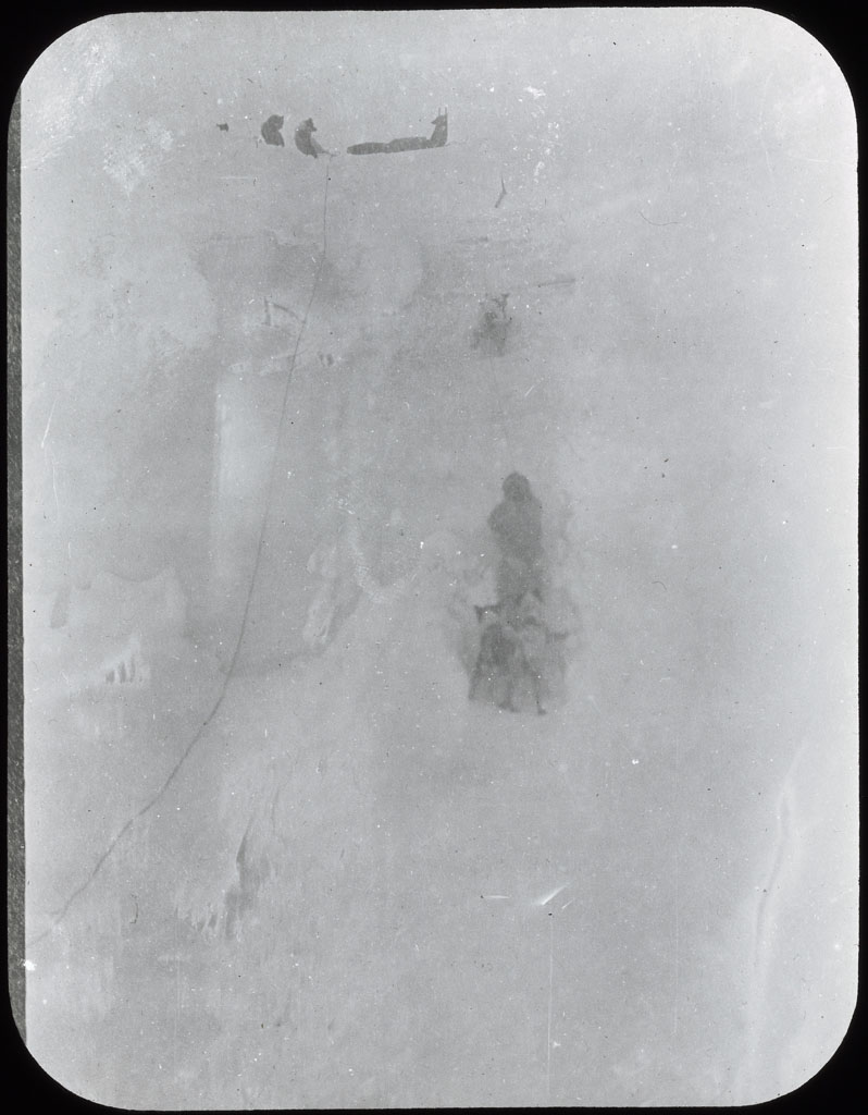 Donald Baxter MacMillan; Climbing a glacier; 1913-1917; image; silver gelatin on glass; 10.16 cm x 8.26 cm x 0.64 cm (4 in. x 3 1/4 in. x 1/4 in.); TGM; North America