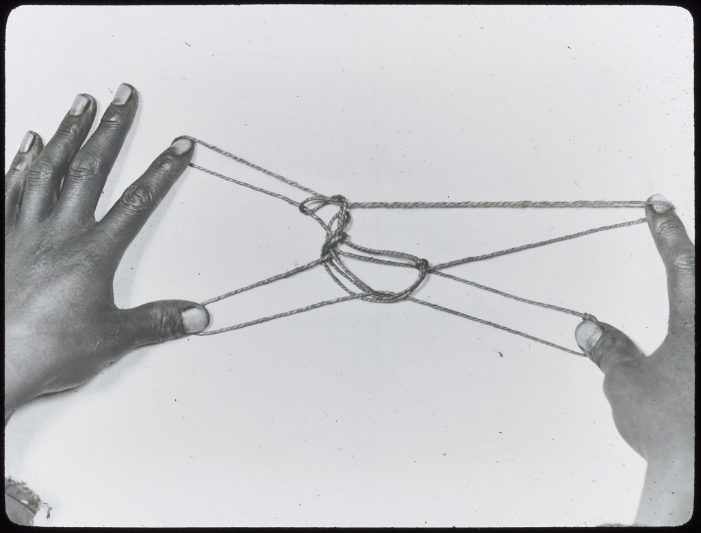 Donald Baxter MacMillan; Cat's Cradle; 1913-1917; image; silver gelatin on glass; 10.16 cm x 8.26 cm x 0.64 cm (4 in. x 3 1/4 in. x 1/4 in.); TGM; North America