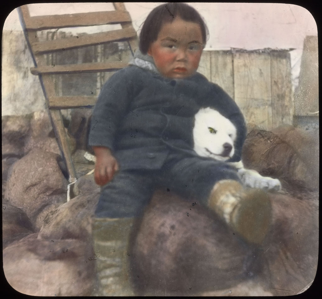 Donald Baxter MacMillan; Eskimo Boy of Etah, North Greenland; 1913-1917; image; silver gelatin on glass; 10.16 cm x 8.26 cm x 0.64 cm (4 in. x 3 1/4 in. x 1/4 in.); TGM; North America