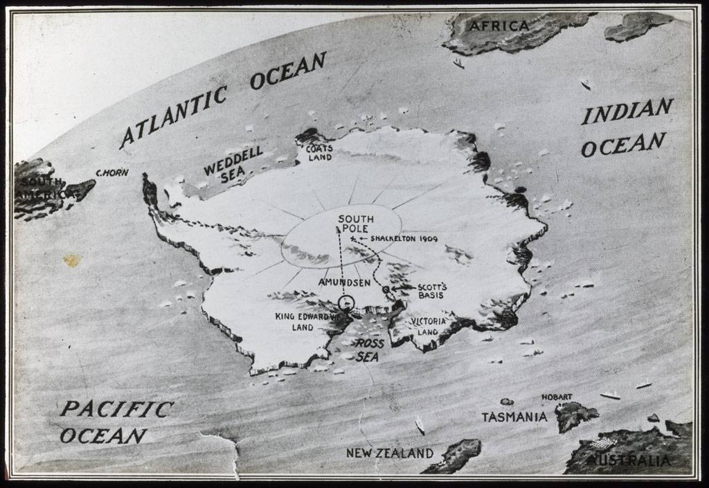 Antarctica, Map