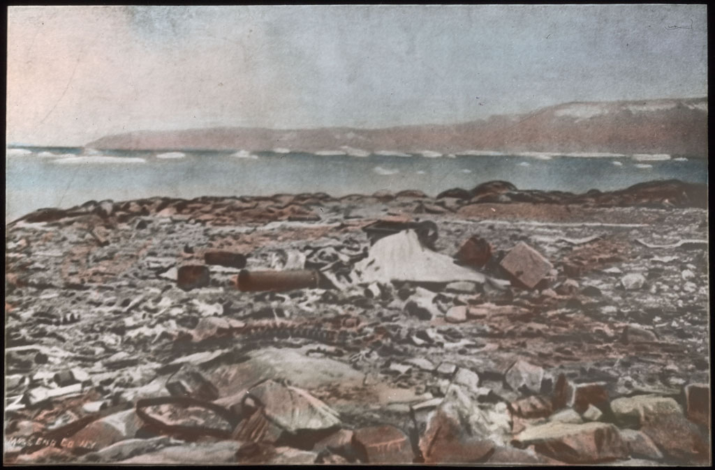 Donald Baxter MacMillan; Debris Found at Camp Near Etah; 1913-1917; image; silver gelatin on glass; 10.16 cm x 8.26 cm x 0.64 cm (4 in. x 3 1/4 in. x 1/4 in.); TGM; North America