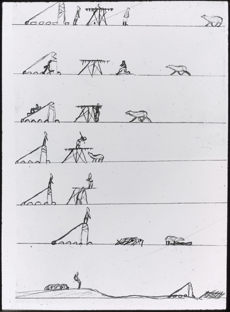 Polar Bear chases Eskimo