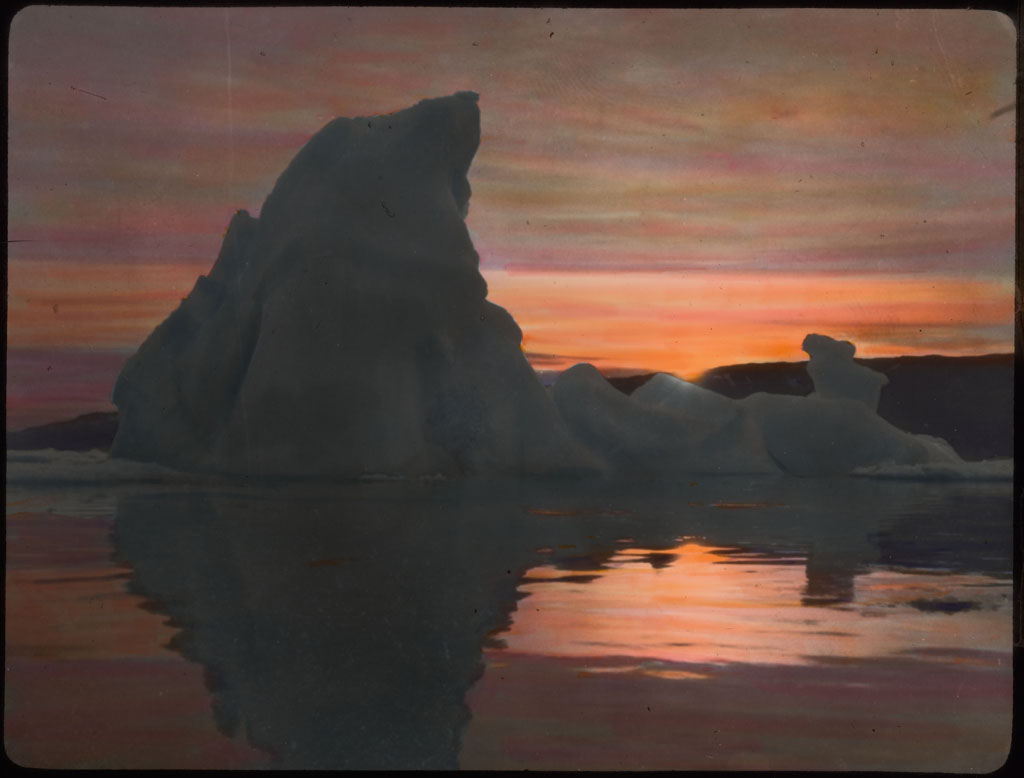 Sunset Over Iceberg Near Etah
