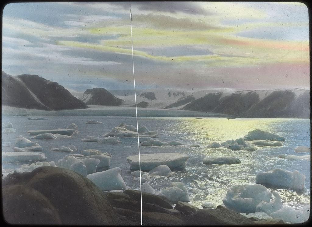 Donald Baxter MacMillan; Glacier in North Greenland; 1913-1917; image; silver gelatin on glass; 10.16 cm x 8.26 cm x 0.64 cm (4 in. x 3 1/4 in. x 1/4 in.); TGM; North America