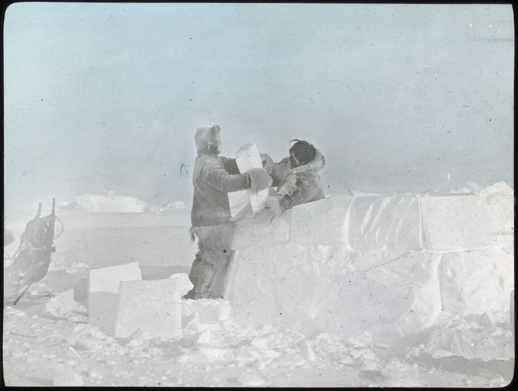 Donald Baxter MacMillan; Snow-House, Building; 1913-1917; image; silver gelatin on glass; 10.16 cm x 8.26 cm x 0.64 cm (4 in. x 3 1/4 in. x 1/4 in.); TGM; North America