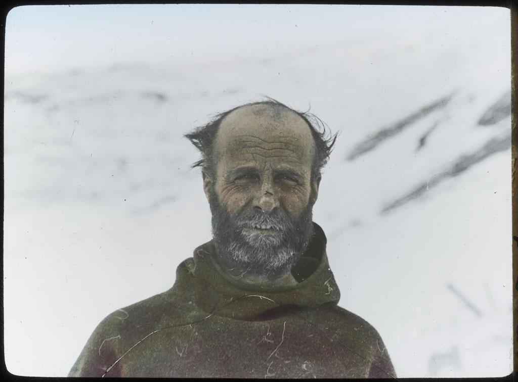 Donald Baxter MacMillan; MacMillan following Crocker Land trip; 1914; image; silver gelatin on glass; 10.16 cm x 8.26 cm x 0.64 cm (4 in. x 3 1/4 in. x 1/4 in.); TGM; North America
