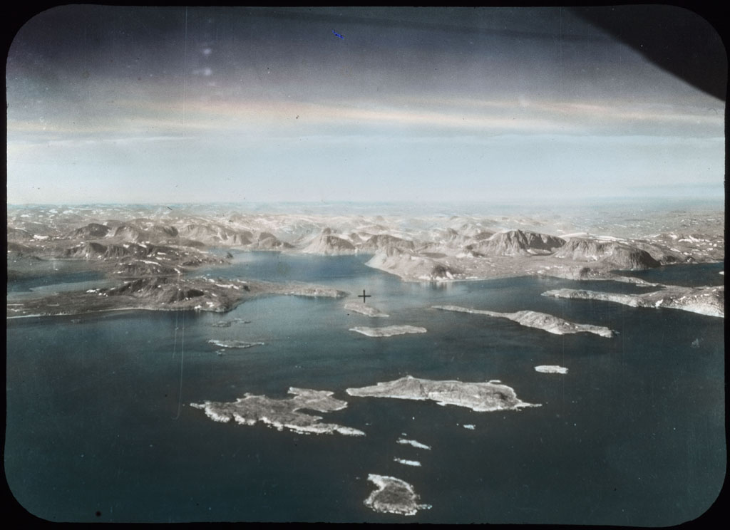 Donald Baxter MacMillan; Islands off the Labrador Coast (aerial view); image; silver gelatin on glass; 10.16 cm x 8.26 cm x 0.64 cm (4 in. x 3 1/4 in. x 1/4 in.); TGM; North America