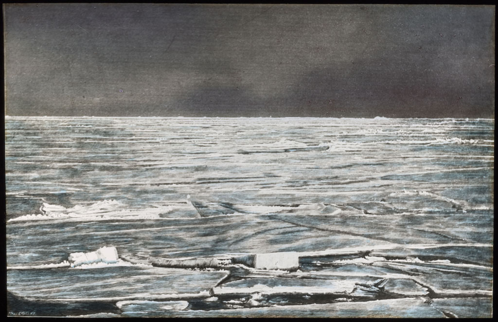 Donald Baxter MacMillan; Ice Field; 1913-1917; image; silver gelatin on glass; 10.16 cm x 8.26 cm x 0.64 cm (4 in. x 3 1/4 in. x 1/4 in.); TGM; North America