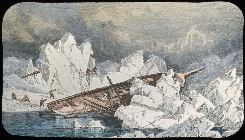 Hull of ship wrecked in Melville Bay (painting)