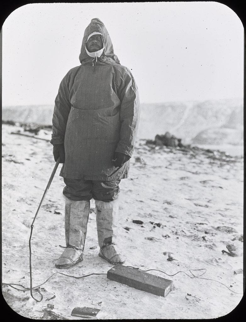 Donald Baxter MacMillan; Elmer Ekblaw, Botanist; 1913-1917; image; silver gelatin on glass; 10.16 cm x 8.26 cm x 0.64 cm (4 in. x 3 1/4 in. x 1/4 in.); TGM; North America