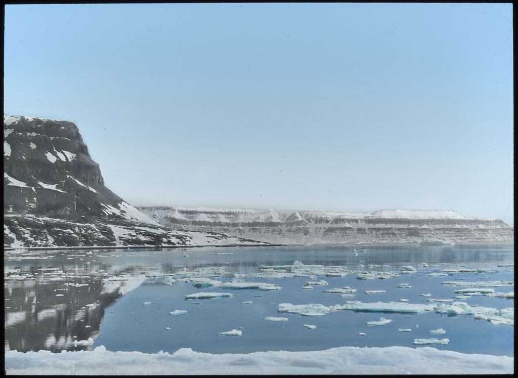 Donald Baxter MacMillan; Cape Alexander - Land North; 1913-1917; image; silver gelatin on glass; 10.16 cm x 8.26 cm x 0.64 cm (4 in. x 3 1/4 in. x 1/4 in.); TGM; North America
