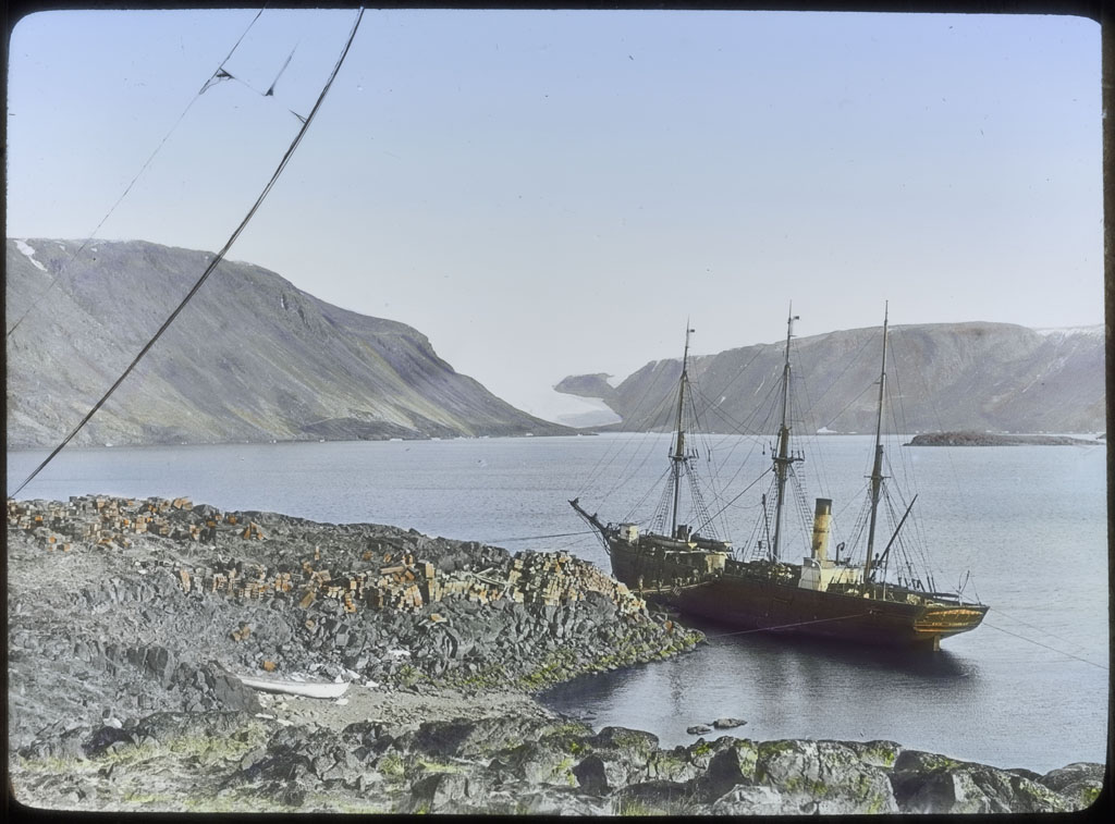 Donald Baxter MacMillan; ERIK at Provision Point-Etah, Northwest Greenland; 1913-1917; image; silver gelatin on glass; 10.16 cm x 8.26 cm x 0.64 cm (4 in. x 3 1/4 in. x 1/4 in.); TGM; North America