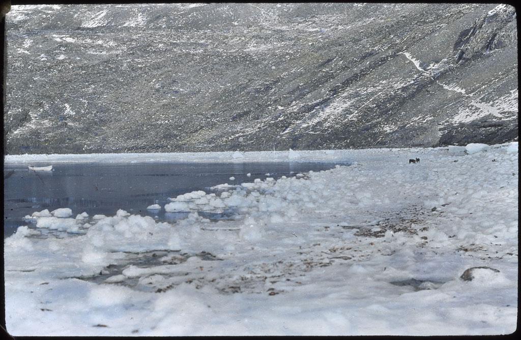Donald Baxter MacMillan; Icefoot formation; 1913-1917; image; silver gelatin on glass; 10.16 cm x 8.26 cm x 0.64 cm (4 in. x 3 1/4 in. x 1/4 in.); TGM; North America