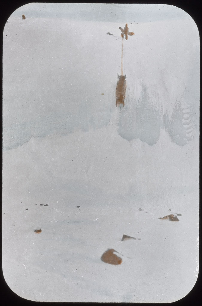 Donald Baxter MacMillan; Up Beitstadt Glacier [Down Beistadt Glacier - AMNH catalogue]; 1914; image; silver gelatin on glass; 10.16 cm x 8.26 cm x 0.64 cm (4 in. x 3 1/4 in. x 1/4 in.); TGM; North America