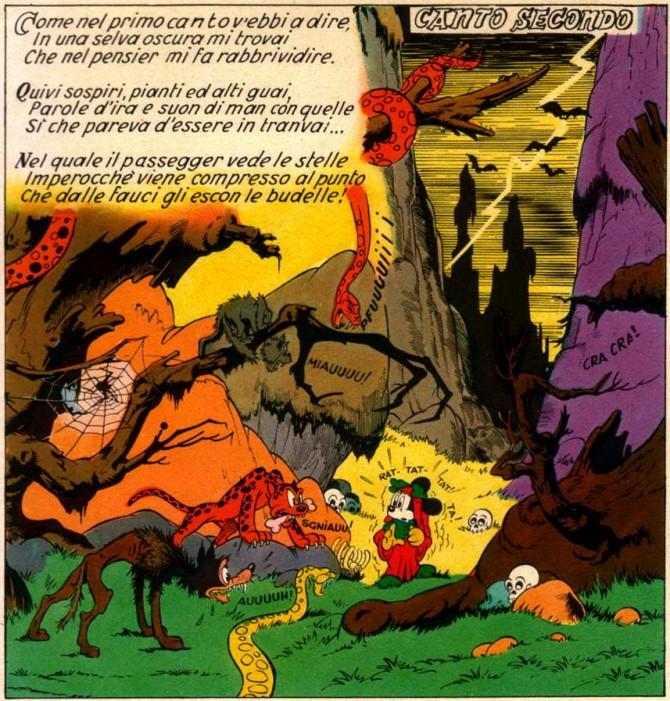 Inferno-di-Topolino-canto-secondo-selva-oscura