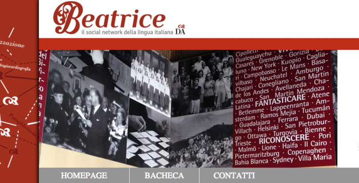 beatrice web platform italian language social network screenshot
