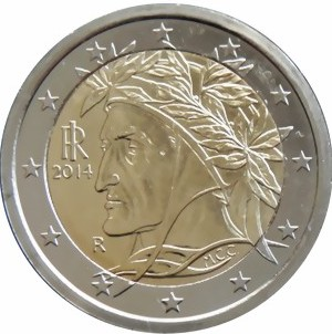 italian two euro coin dante today citings sightings. Black Bedroom Furniture Sets. Home Design Ideas