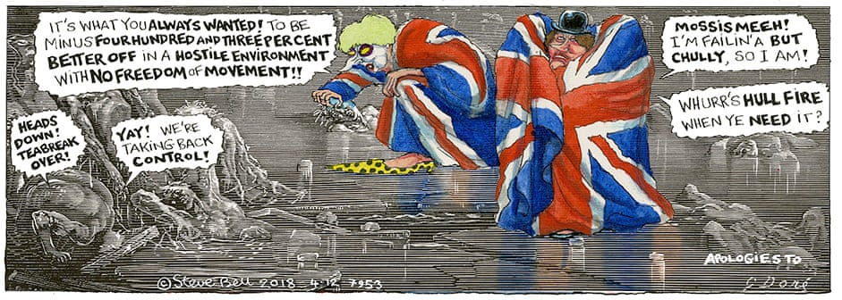 Cartoonist Steve Bell S Brexit Hell Dante Today Citings