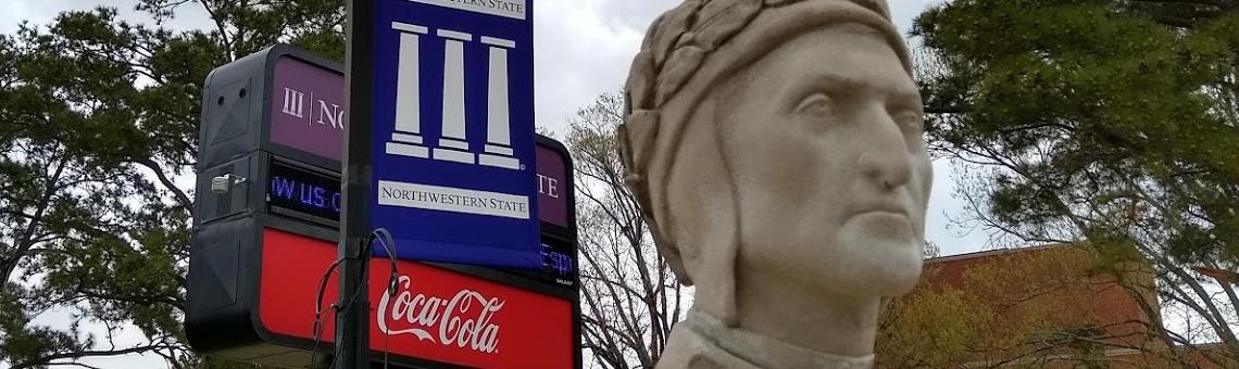Bust of Dante, Northwestern State University of Louisiana (Natchitoches, LA)