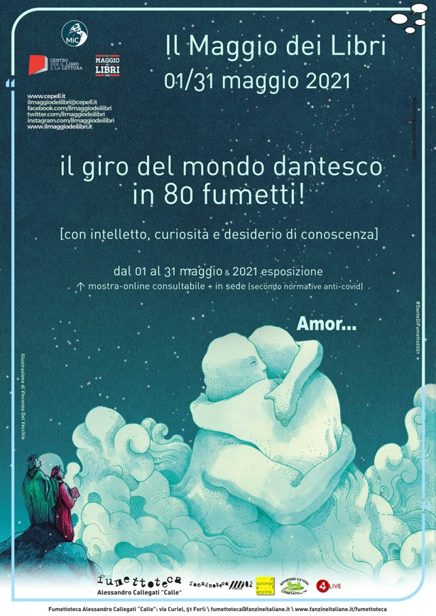 Fumettoteca-Alessandro-Callegati-Calle-Locandina-Giro-mondo-dantesco-80-fumetti