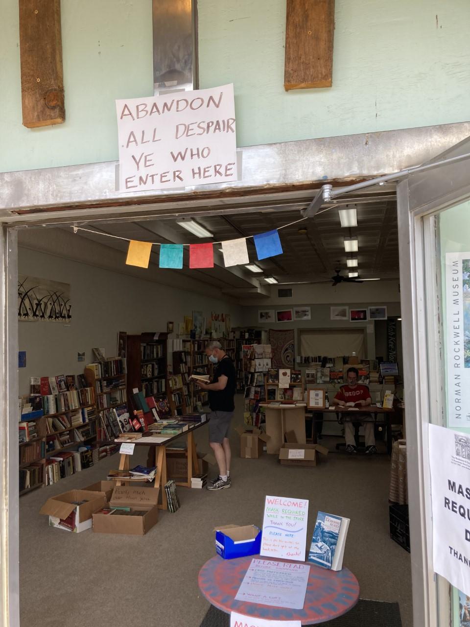 Dante-in-the-Berkshires-Abandon-All-Despair-Bookstore-Sign