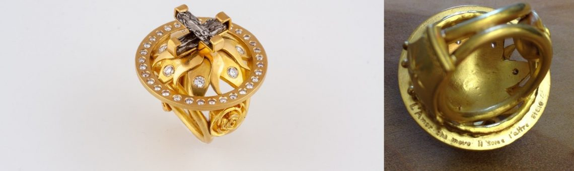 """Donna Distefano's """"The Love That Moves the Sun and the Other Stars"""" Ring"""