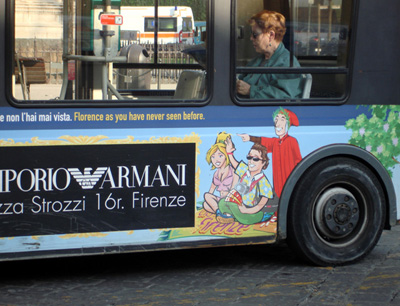 dante-on-the-bus-piazza-san-marco-florence-italy