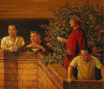 dai-dudu-li-tiezi-and-zhang-an-discussing-the-divine-comedy-with-dante-2006-crop