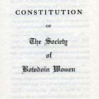 1922- The Society of Bowdoin Women Established