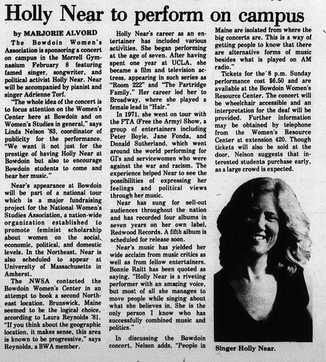 CS65.1 Orient 1981 february 6 - Holly Near at Bowdoin