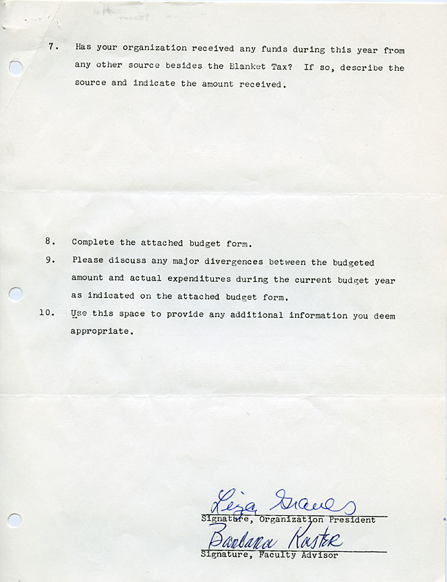 AG40.3 - 1975 Funding Request and Constitution for the Bowdoin Women's Association