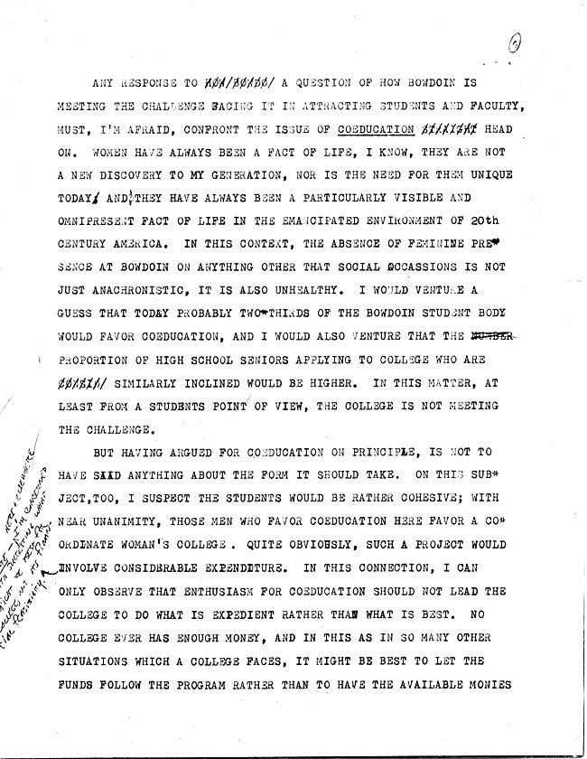 AW44.1 Page 1 - Speech to the Alumni Council and Letter from A. LeRoy Greason