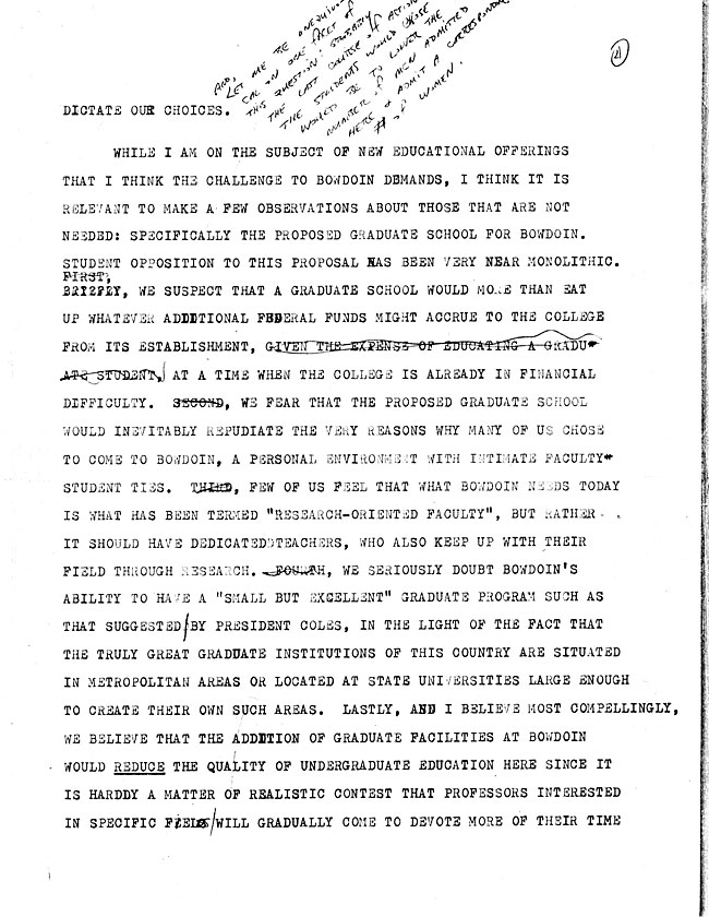 AW44.1 Page 2 - Speech to the Alumni Council and Letter from A. LeRoy Greason