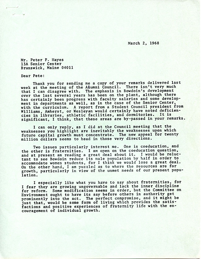 AW44.2 Page 1 - Letter from LeRoy Greason to Peter Hayes