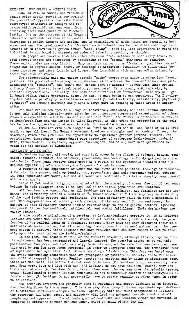 CS62 Page 2 - To The Root: Feminist Issue